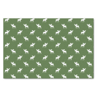 "Moose Silhouettes Pattern 10"" X 15"" Tissue Paper"