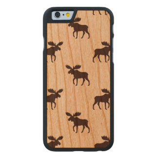 Moose Silhouettes Pattern Carved Cherry iPhone 6 Slim Case