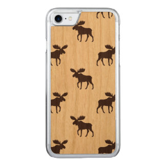 Moose Silhouettes Pattern Carved iPhone 8/7 Case