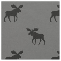 Moose Silhouettes Pattern Fabric