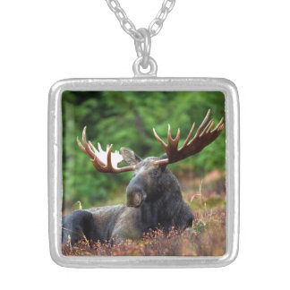 Moose Silver Plated Necklace