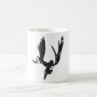 Moose skull coffee mug