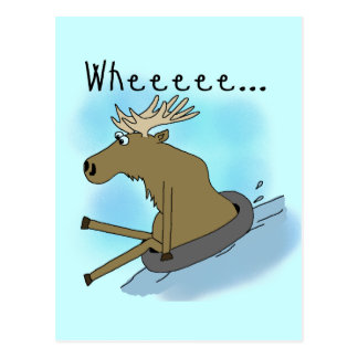 Moose Snow  Tubing Post Cards