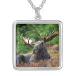 Moose Square Pendant Necklace