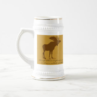 Moose Stein-Walden, Henry David Thoreau Quote Beer Stein