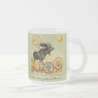 Moose Stein-Walden, Henry David Thoreau Quote Frosted Glass Coffee Mug