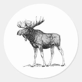 Moose Round Sticker