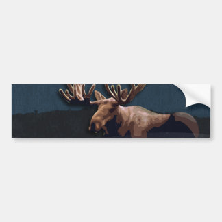 Moose Talk Bumper Sticker