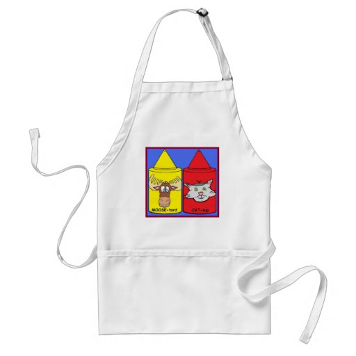 MOOSE-tard and CAT-sup Adult Apron