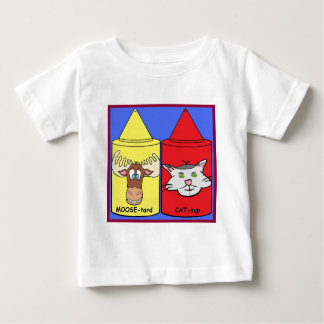 MOOSE-tard and CAT-sup Baby T-Shirt