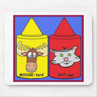 MOOSE-tard and CAT-sup Mouse Pad