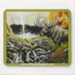 Moose~ una pintura en productos adaptables tapetes de ratones