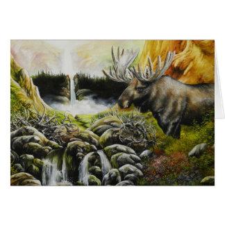 Moose~ una pintura en productos adaptables tarjeta de felicitación