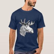 Moose Vintage Style Hunt Theme T-Shirt