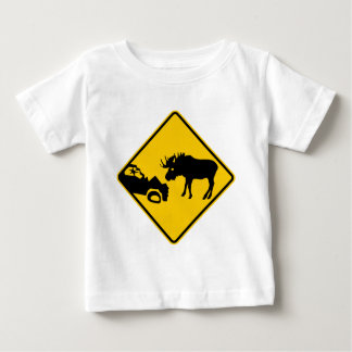 Moose Warning Sign from Gros Morne National Park Baby T-Shirt