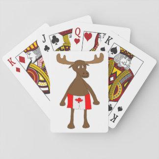 Moose wearing Canadian boxers Card Deck