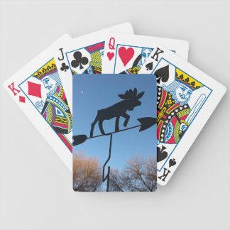 Moose weathervane bicycle playing cards