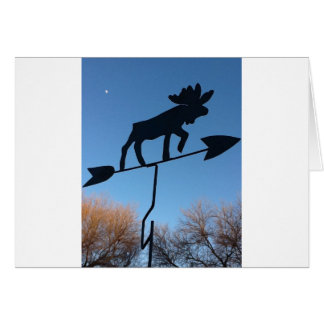 Moose weathervane cards