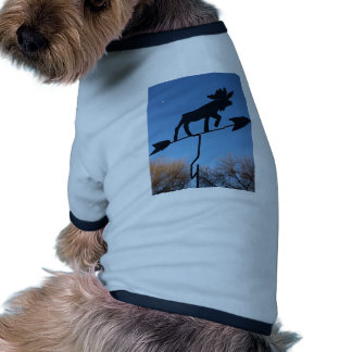 Moose weathervane dog tee shirt