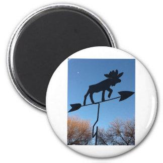 Moose weathervane fridge magnet