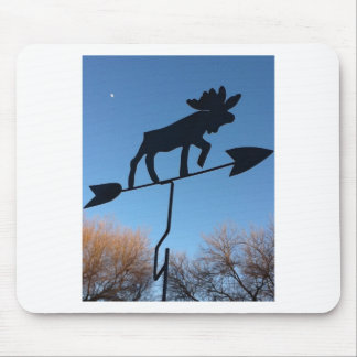 Moose weathervane mousepad