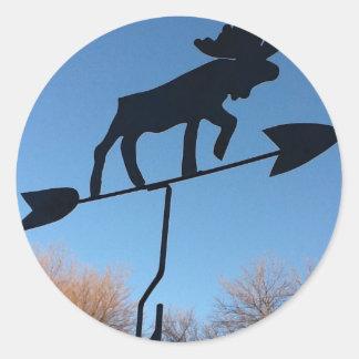 Moose weathervane sticker
