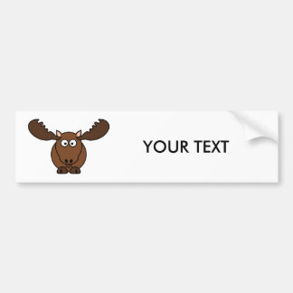 Moose with Big Antlers Car Bumper Sticker