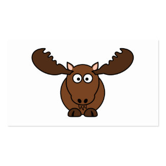 Moose with Big Antlers Business Card