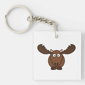 Moose with Big Antlers Keychain