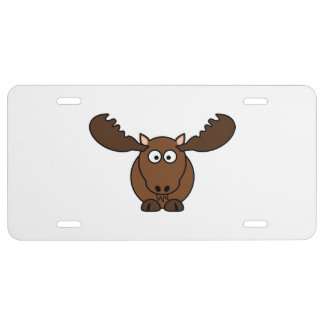 Moose with Big Antlers License Plate