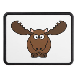 Moose with Big Antlers Tow Hitch Cover