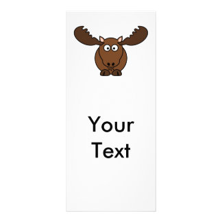 Moose with Big Antlers Personalized Rack Card