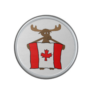 Moose with Canadian Flag Speaker