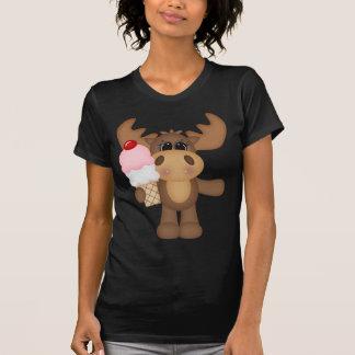 Moose with ice cream cone tee shirt