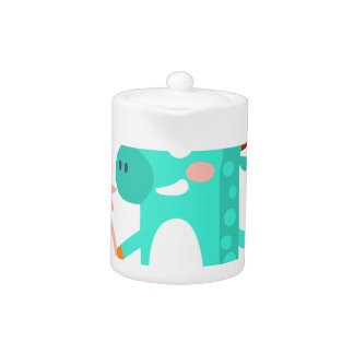 Moose With Party Attributes Girly Stylized Funky Teapot