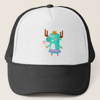 Moose With Party Attributes Girly Stylized Funky Trucker Hat
