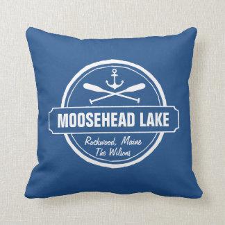 Moosehead Lake Maine anchor custom town and name Pillow