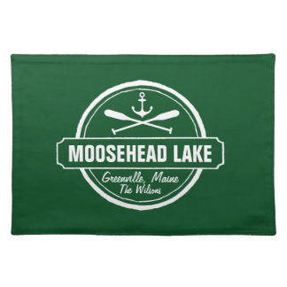 Moosehead Lake Maine anchor custom town and name Placemat