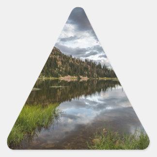 Moosehorn Lake in Utah Triangle Sticker