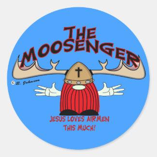 Moosenger Airmen Classic Round Sticker