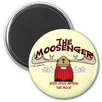 Moosenger Airmen 2 Inch Round Magnet