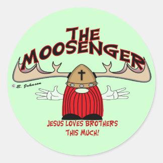 Moosenger Brothers Classic Round Sticker