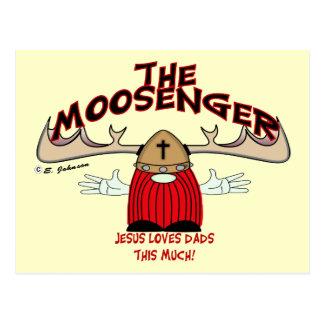 Moosenger Dads Postcard