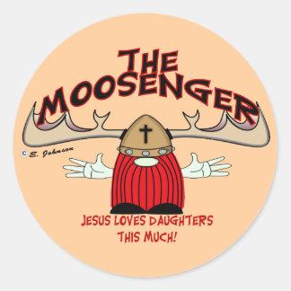 Moosenger Daughters Classic Round Sticker