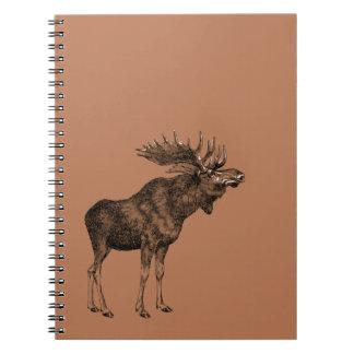 Moosey Spiral Notebook