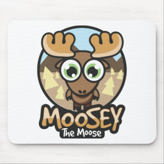 Moosey fall button mouse pad