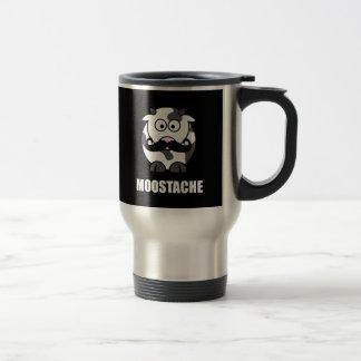 Moostache 15 Oz Stainless Steel Travel Mug