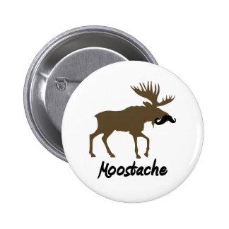 Moostache 2 Inch Round Button
