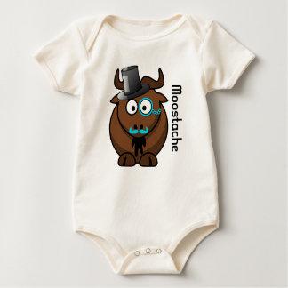 Moostache Baby Bodysuit