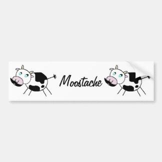 Moostache Bumper Sticker